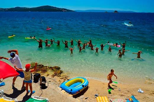 Belvedère Adriatic Kamp Dalmatië - strand