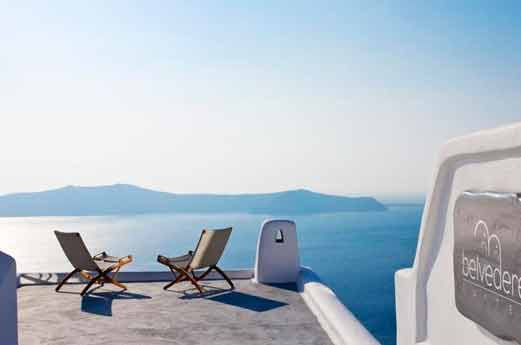 Belvedere Suites Santorini terras